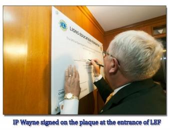 PIP Wayne Madden Official Opening of the Secretariat of LEF